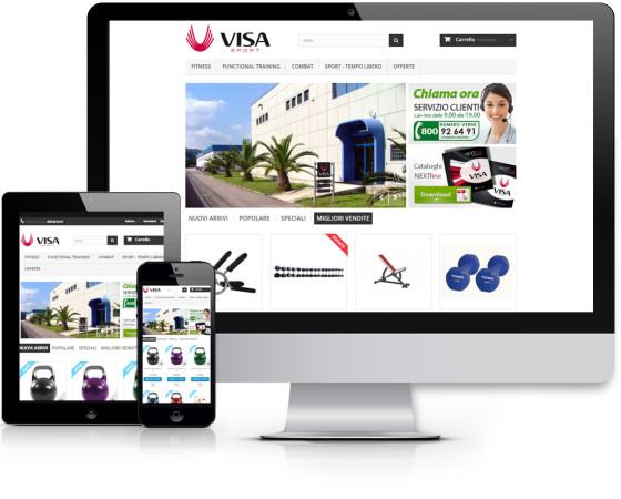 Realizzato il sito e-commerce visashop.it per la Visa Sport