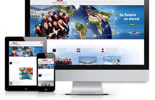 (Italiano) Nuovo sito web per la società spagnola Pro Fly Academy – Flyhostess Group