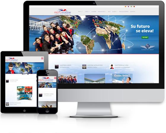 Nuovo sito web per la società spagnola Pro Fly Academy – Flyhostess Group